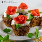 Chickpea-Apple Carrot Muffins with carrot roses and haupia