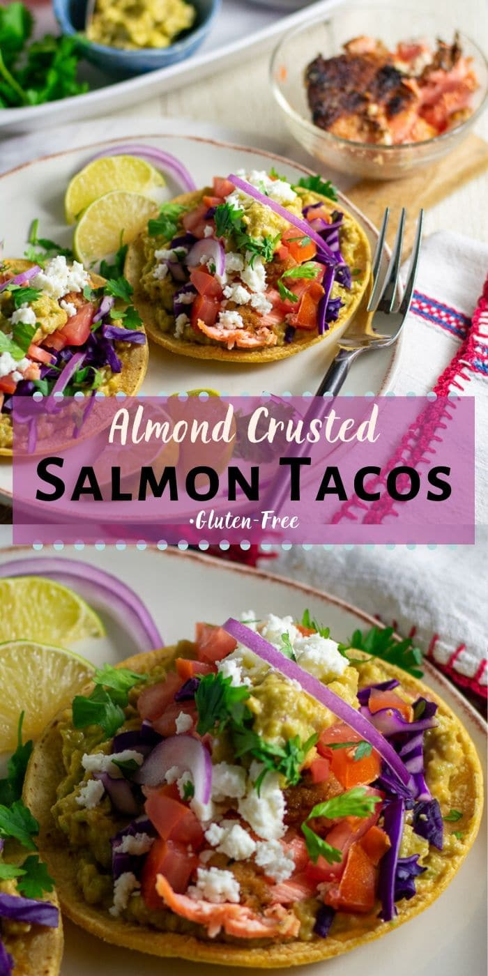 almond flour salmon tacos gluten free pinterest collage