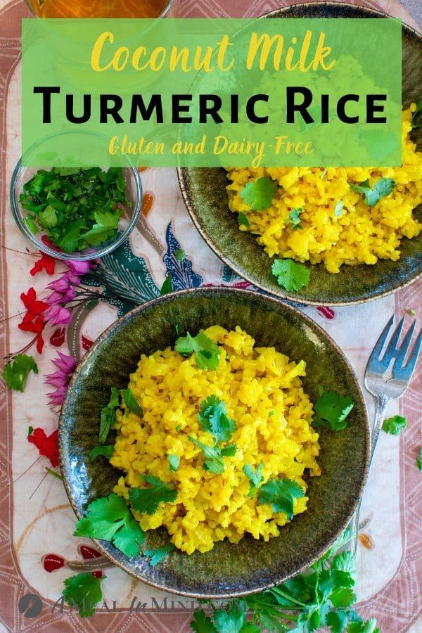 Coconut Turmeric Rice pinterest image