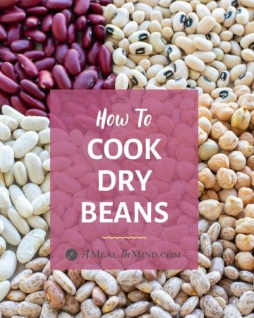 3 Ways to Cook Dry Beans image of 5 types of beans