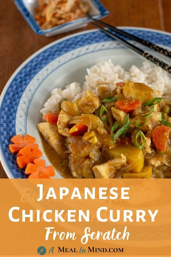 Japanese Chicken Curry From Scratch pinterest pin