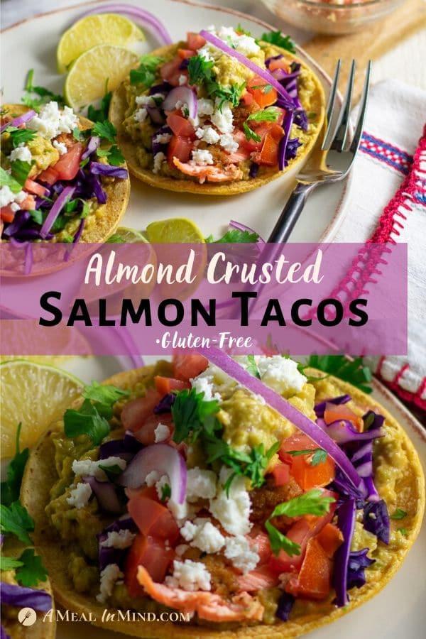 Almond Flour Salmon Tacos pinterest collage