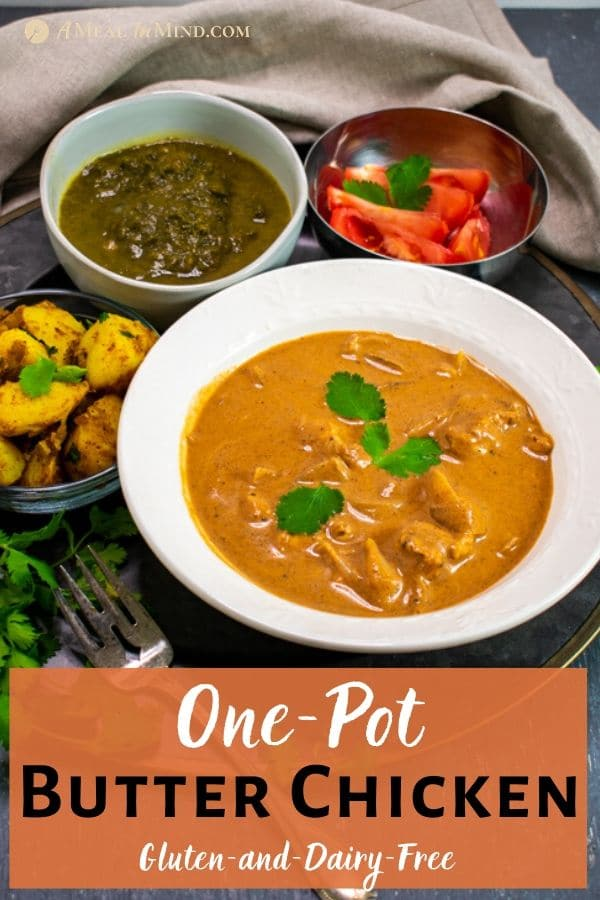 One-Pot Butter Chicken pinterest image