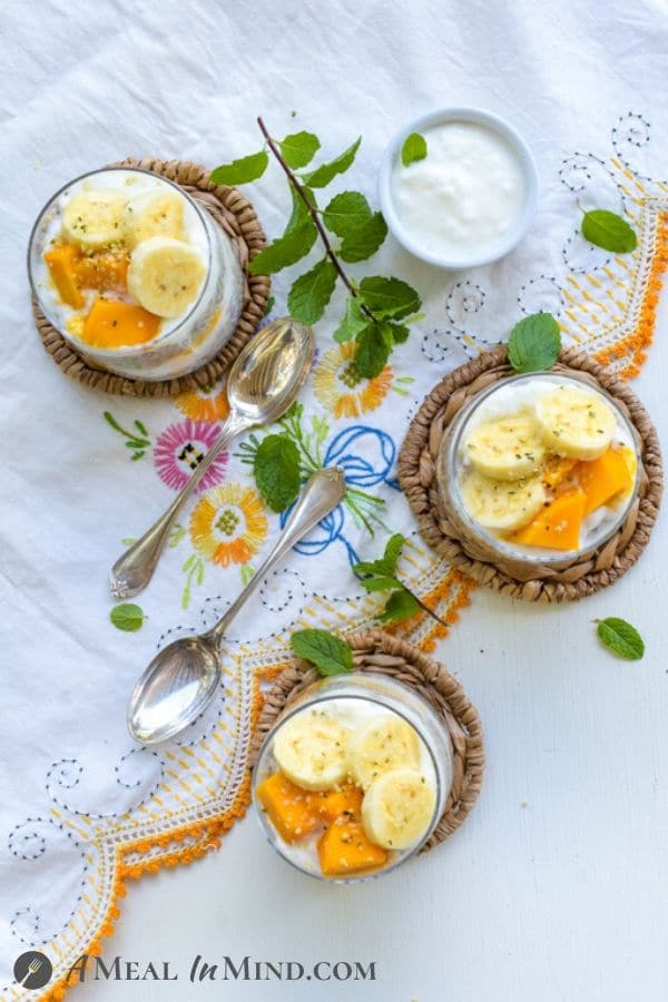 Quinoa-Chia Breakfast Pudding with Mango