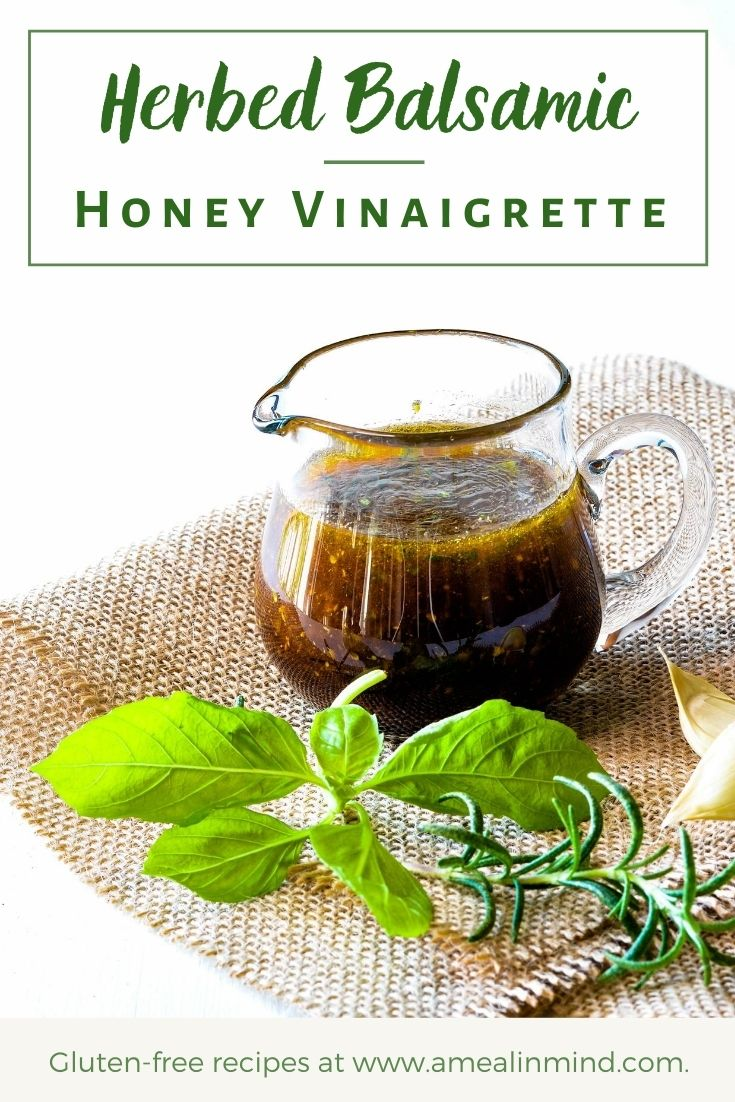 Herbed Balsamic-Honey Vinaigrette pinterest image