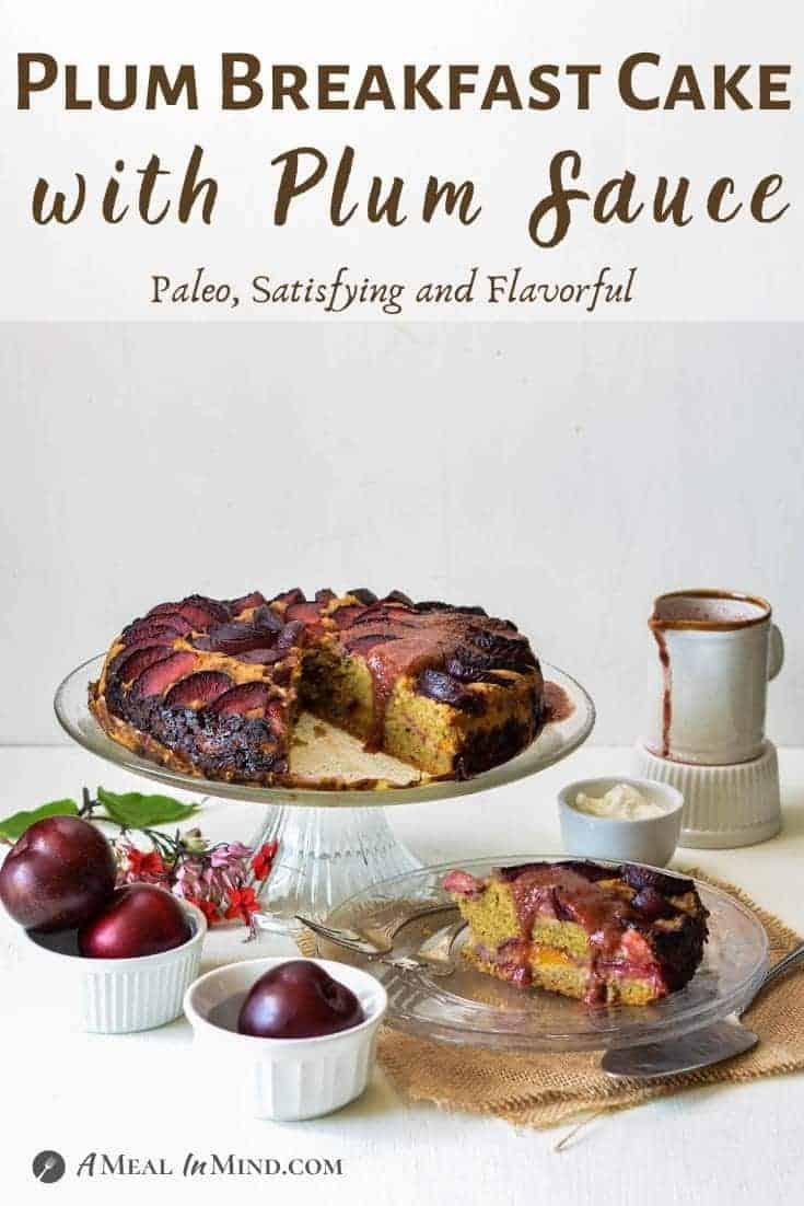 Plum Breakfast Cake with Plum Sauce pinterest image