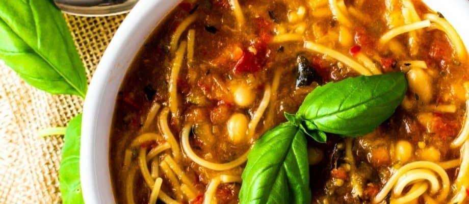 Roasted Summer Vegetable Soup – Gluten-Free