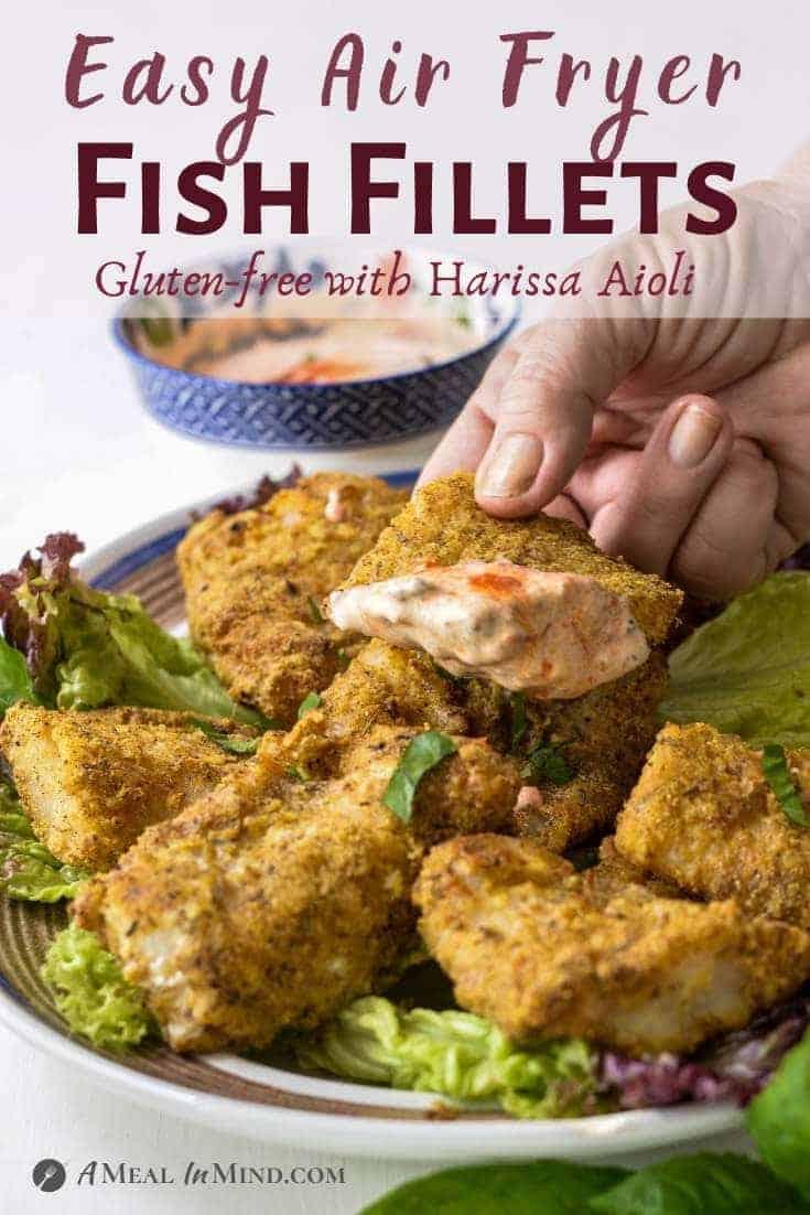 air fryer fish fillets pinterest image