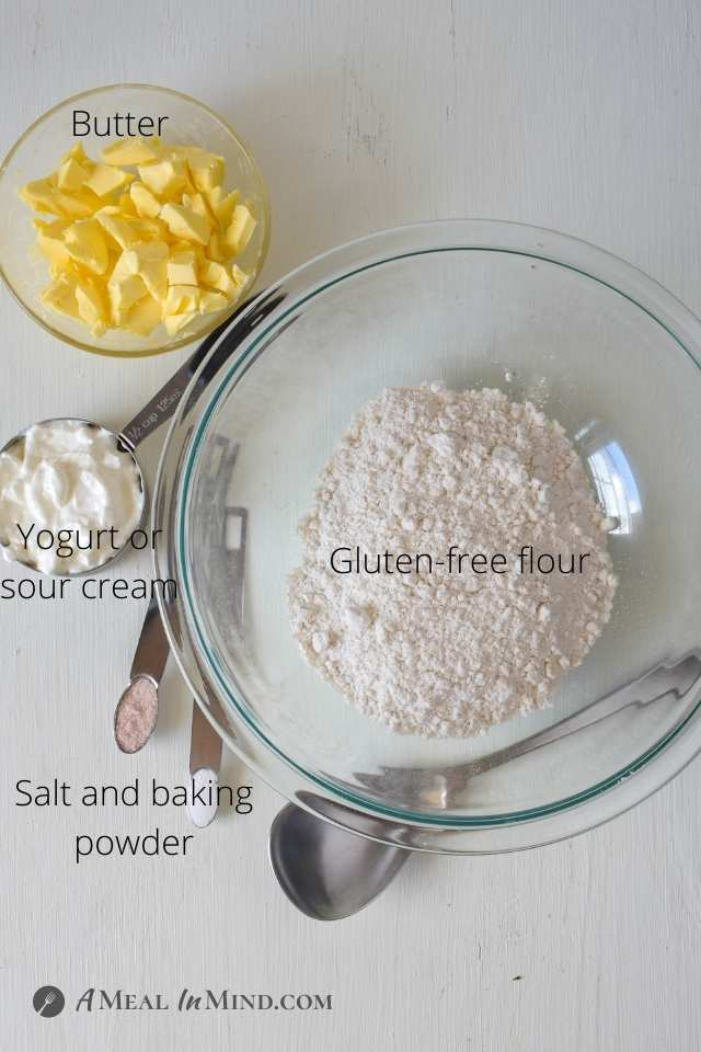 ingredients for gluten-free Galette crust