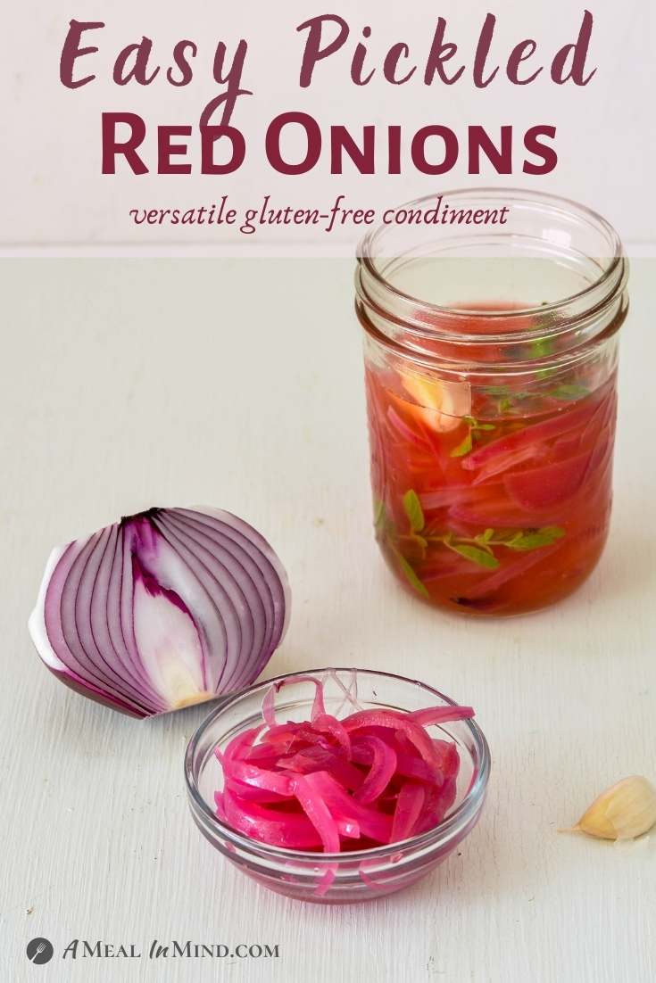 Pickled Red Onions - 5 Ingredients pinterest collage
