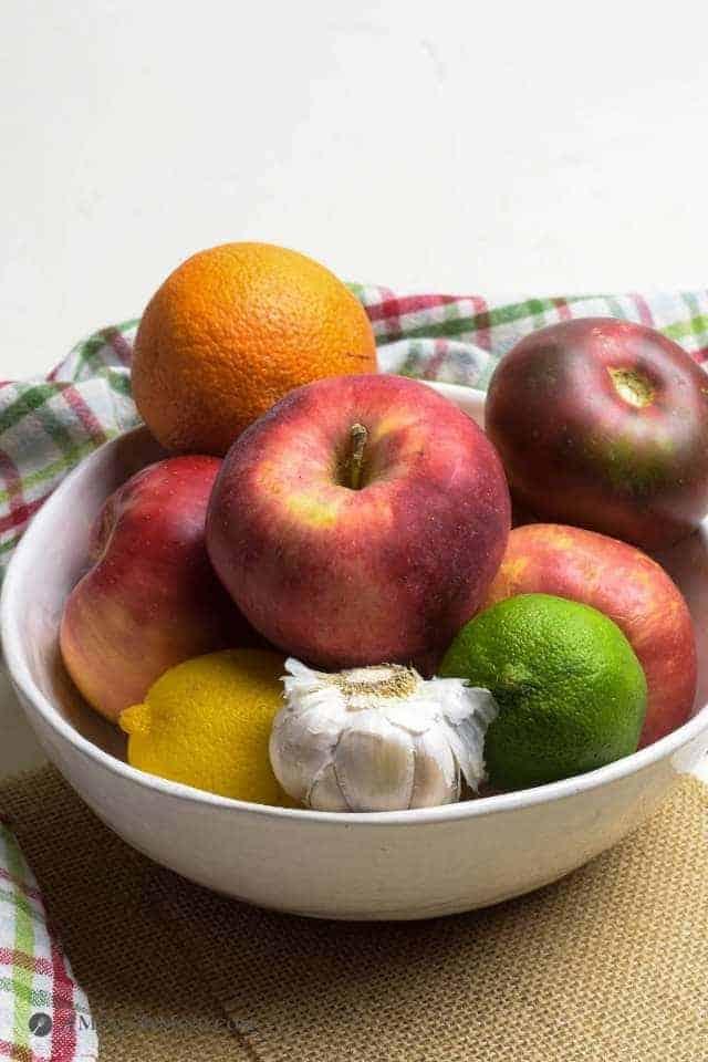 fruit for apple-pluot butter