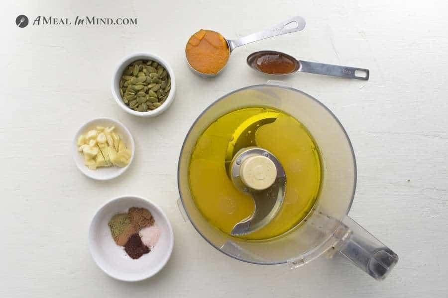 ingredients for version 1 of chipotle pumpkin vinaigrette