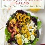 delicata heirloom tomato salad overhead