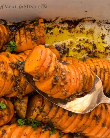 southwestern sweet potatoes in baking dish