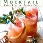 rosemary grapefruit paloma mocktail